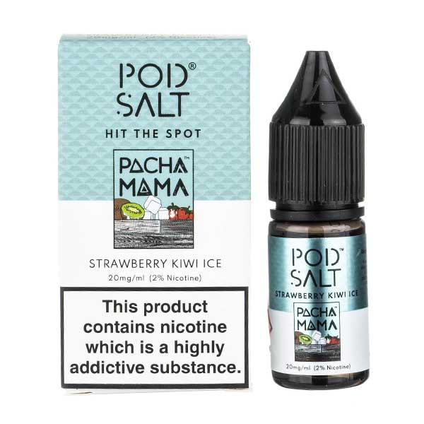 Strawberry Kiwi Ice Nic Salt E-Liquid by Pod Salt