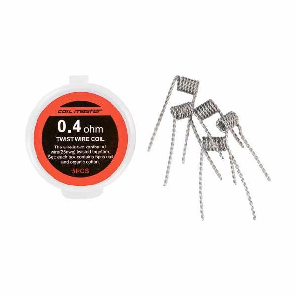 Coil Master Pre-built Twisted Coils – 5 pack