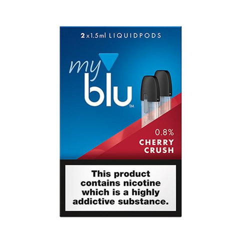 myBlu Cherry Crush 8mg E-Liquid Pods - 2PK
