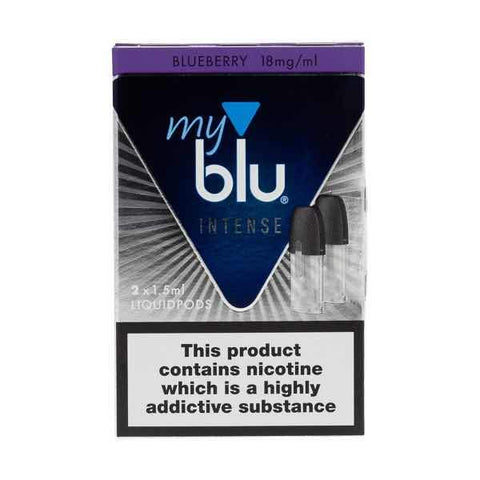 myBlu Intense Blueberry Nic Salt E-Liquid Pods - 2PK