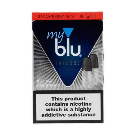 myBlu Intense Strawberry Mint Nic Salt E-Liquid Pods - 2PK