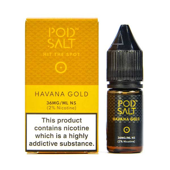 Havana Gold Nic Salt E-Liquid by Pod Salt
