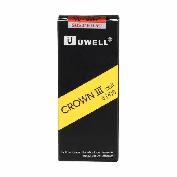Crown 3 Tank Coils - 4 Pack by Uwell