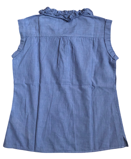 Sleeveless Smocked Blouse