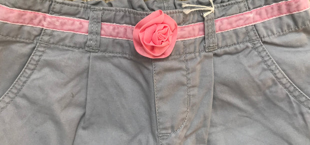 Trousers with Flower Belt