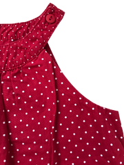 Polka Dots Sleeveless Blouse