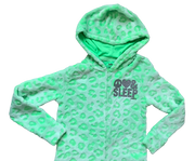 Soft Velour Neon Hooded Onesie/All-in-One