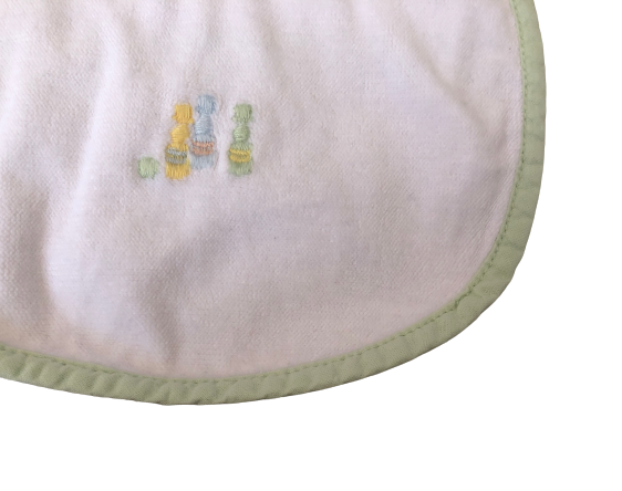 Set of 2 Embroidered Bibs