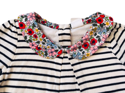 Jersey Blouse With Liberty Collar and Bodysuit