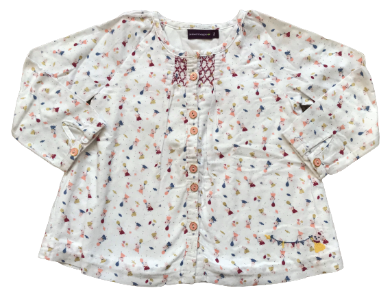 Smocked Blouse with Lining