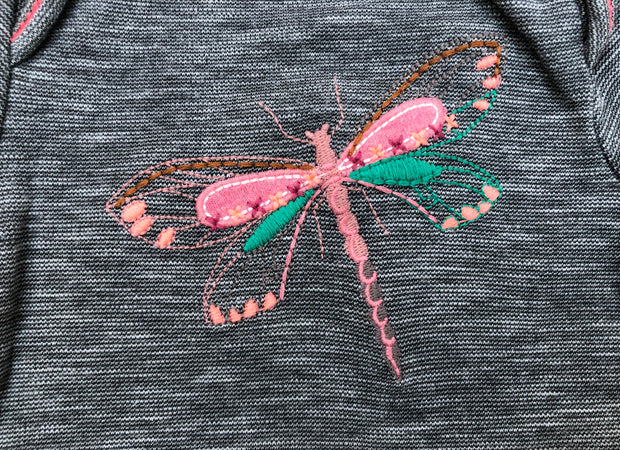 Embroidered Dragonfly Bodysuit