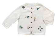 Embroidered Cardigan with Sequins