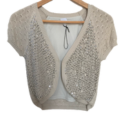 Knitted Cardigan with Sequins
