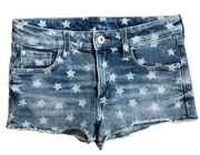 Star Print Denim Shorts