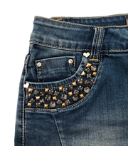 Denim Skirt with Strass details