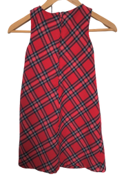 Winter Sleeveless Check Dress