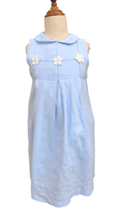 Linen Dress with Collar