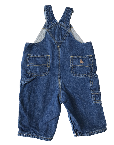 Jersey-Lined Denim Dungarees
