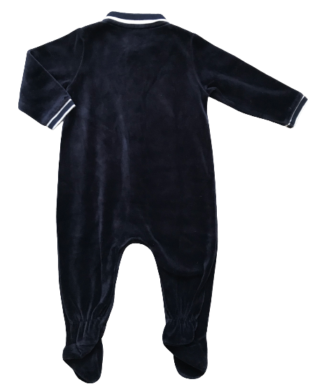 Velour Jumpsuit/Sleepsuit with Collar