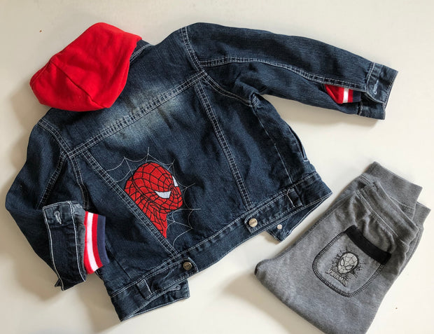 Denim Jacket / Spiderman