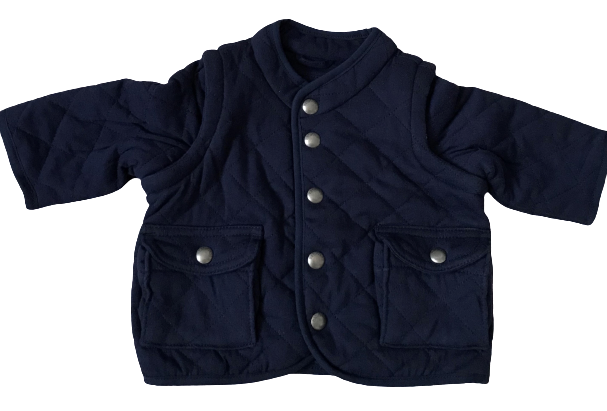 Quilted Jacket with Removable Sleeves