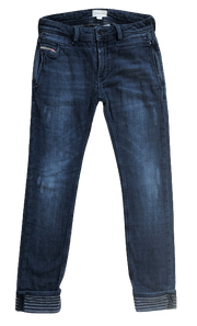 Jeans with Striped Cuffs