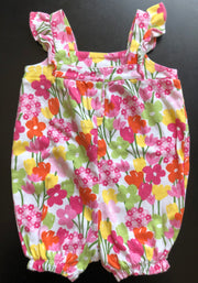 Thick Jersey Flower Print Rompers