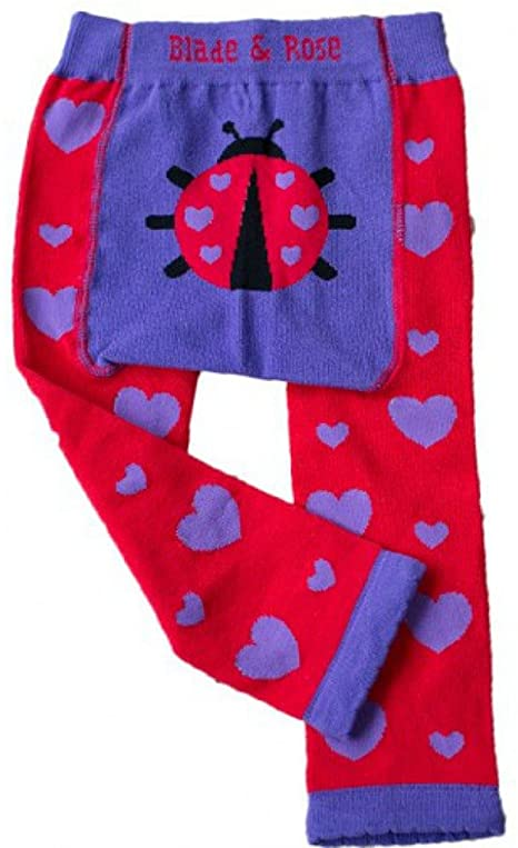 Ladybird Heart Knitted Leggings - NEW