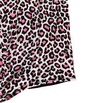 Leopard Stretchy Tie Front Top