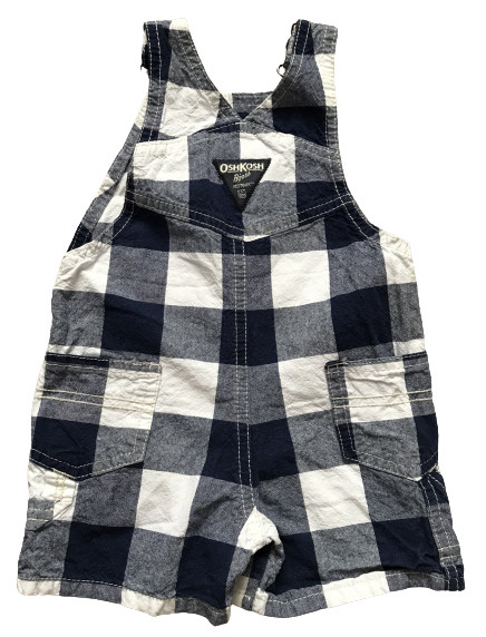 Plaid Denim Dungarees