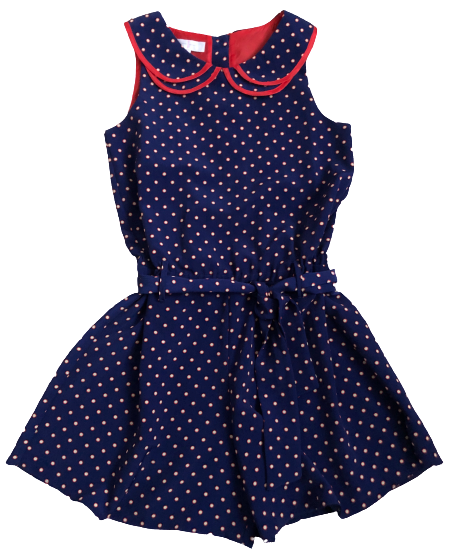 Playsuit with Belt and Collar