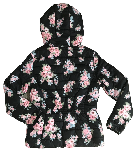 Floral Hooded Puffer Jacket