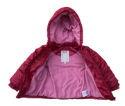 Hooded Puffer Jacket With Fleece Lining