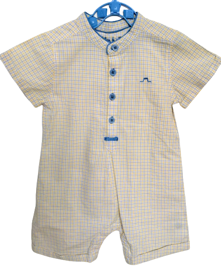 Shirt Rompers with Mandarin Collar