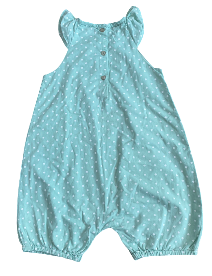 Polka Dots Rompers with Cap Sleeves