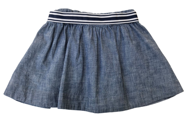 Chambray Skirt with belt