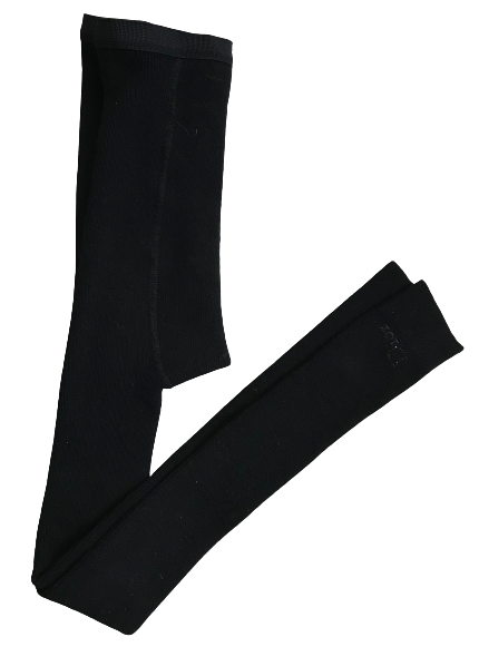 Footless Ribbed Winter Tights