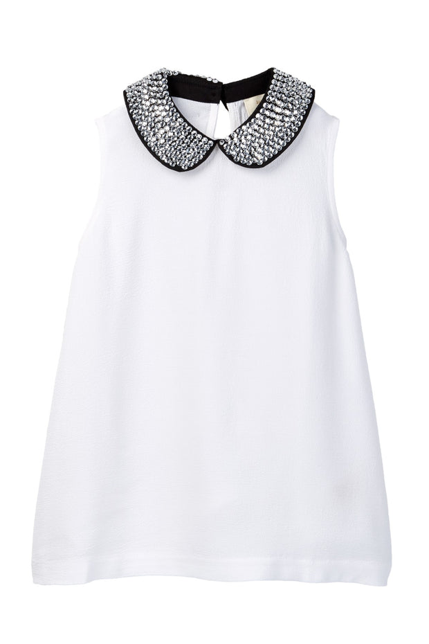 Top with Embellished Peter Pan Collar