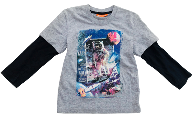 Astronaut Print 2-in-1 T-shirt