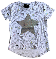 T-Shirt with reversible sequins - NEW