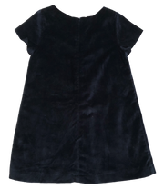 Velour Occasion Dress with Bow