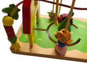 Wire Farm Animals Bead Frame Roller Coaster Maze Toy Set