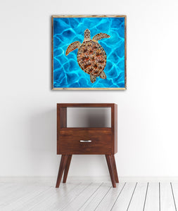Luna the Sea Turtle Art Print by Alexandra Nicole