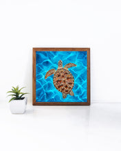 Load image into Gallery viewer, Framed Luna the Sea Turtle Art Print