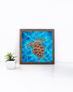 Framed Luna the Sea Turtle Art Print