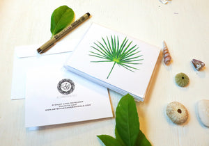 Monstera and Palmetto Leaf Notecards Mixed Set -  4 and 4