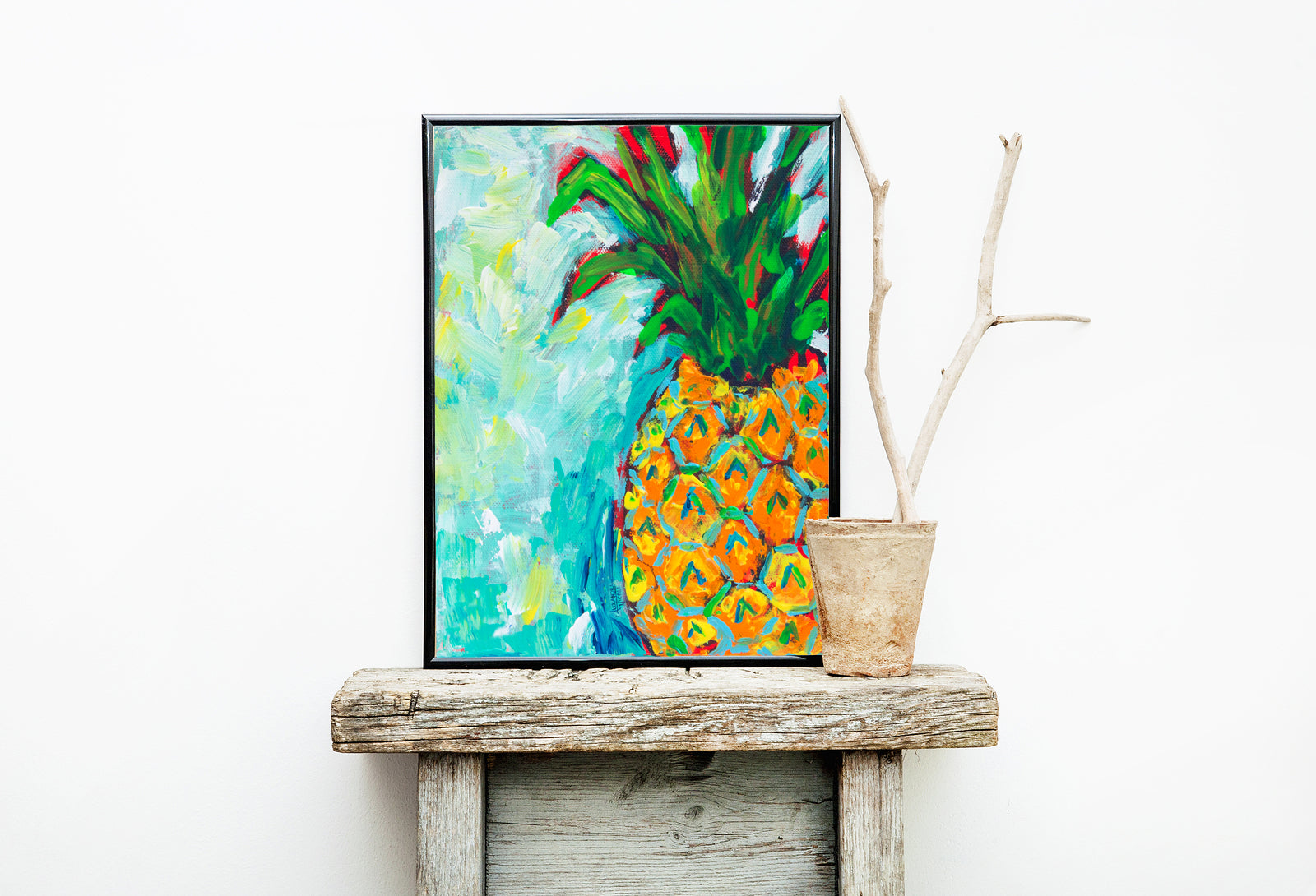 A Pineapple A Day Art Print