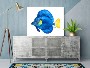 Watercolor Purple Tang Fish Art Print Alexandra Nicole