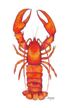 Load image into Gallery viewer, Lobster Watercolor Art Print by Alexandra Nicole