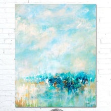 Load image into Gallery viewer, Blue Abstract Painting by Alexandra Nicole